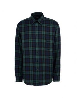 Pубашка AMBASSADOR. Цвет: темно-зеленый