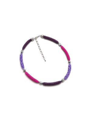 Дизайнерское ожерелье FOXTROT. Цвет: фиолетовый
