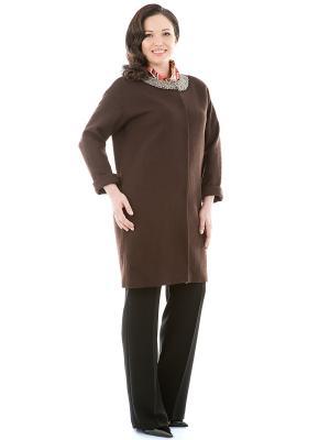Пальто Levall. Цвет: коричневый