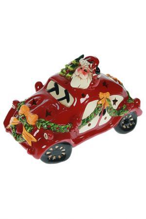 Фигурка Дед Мороз на машине Christmas. Цвет: мультицвет