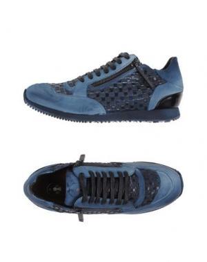 Низкие кеды и кроссовки BRUNO BORDESE. Цвет: темно-синий