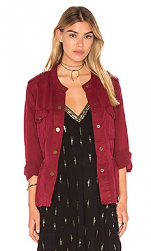 Куртка с запахом marni Sanctuary. Цвет: красный
