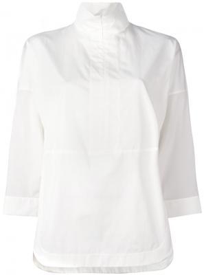 Топ с прозрачными рукавами на молнии Akris Punto. Цвет: телесный
