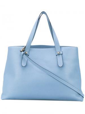 Классическая сумка-тоут Borbonese. Цвет: синий