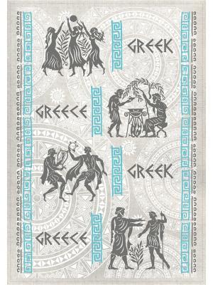 Полотенца Греческие узоры, 2 шт., с петелькой GrandStyle. Цвет: черный, голубой, светло-серый