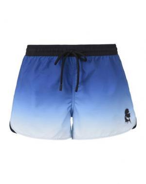 Пляжные брюки и шорты KARL LAGERFELD. Цвет: синий