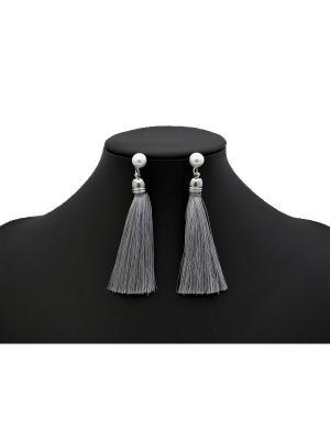 Серьги Miss Bijou. Цвет: серый, серебристый