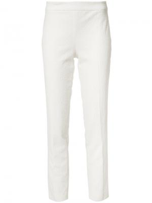 Slim-fit trousers Josie Natori. Цвет: белый