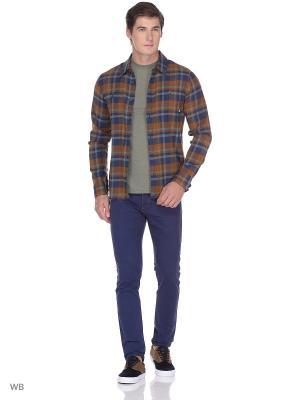 Рубашка BANFIELD II VANS. Цвет: темно-синий, коричневый