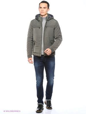Куртка Finn Flare. Цвет: темно-серый