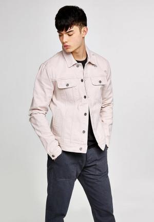 Куртка джинсовая Topman. Цвет: розовый