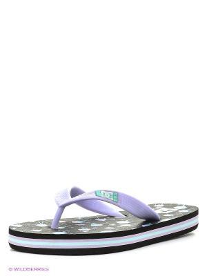 Шлепанцы SPRAY GRAFFIK B SNDL DC Shoes. Цвет: сиреневый