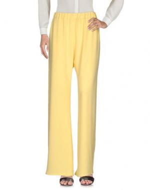 Повседневные брюки DON'T MISS YOUR DREAMS. Цвет: желтый