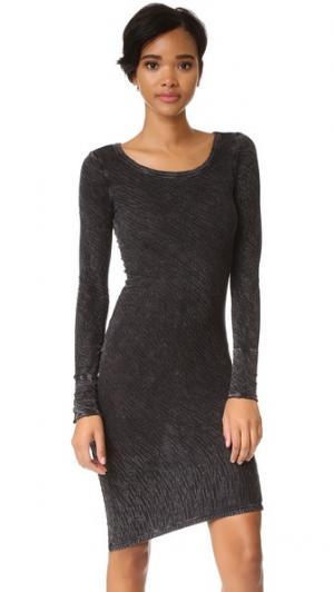 Облегающее платье Fine by Superfine. Цвет: черный минеральный
