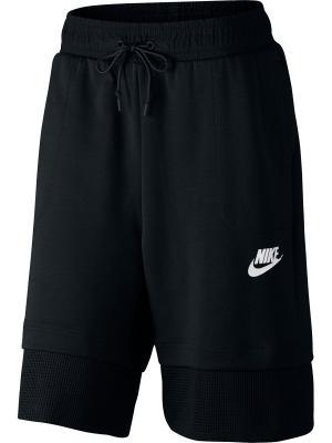 Шорты W NSW AV15 SHORT MESH Nike. Цвет: черный