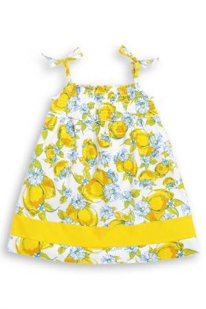 Платье Pelican. Цвет: желтый, 11