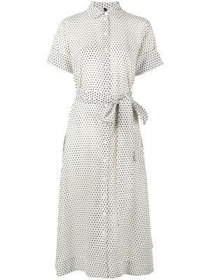 Платье-рубашка с узором в горох Lisa Marie Fernandez. Цвет: белый