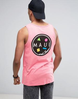 Maui & Sons Майка с логотипом Cookie. Цвет: розовый