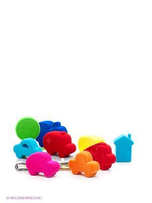 Игровой набор Город Rubbabu. Цвет: синий, зеленый, красный, фуксия, оранжевый