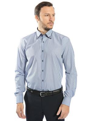 Рубашка GroStyle. Цвет: темно-синий, белый, голубой