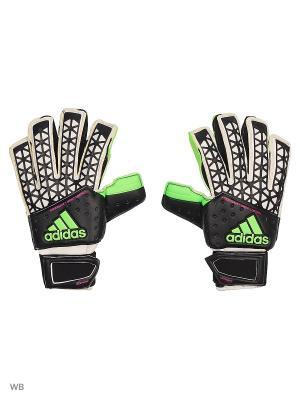 Вратарские перчатки взр. ACE ZONES ULTIM  BLACK/WHITE/SGREEN/S Adidas. Цвет: черный, белый, зеленый