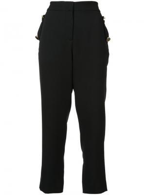 Укороченные брюки с завышенной талией Prabal Gurung. Цвет: чёрный