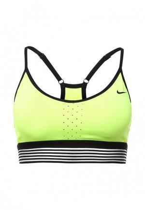 Топ спортивный Nike. Цвет: желтый
