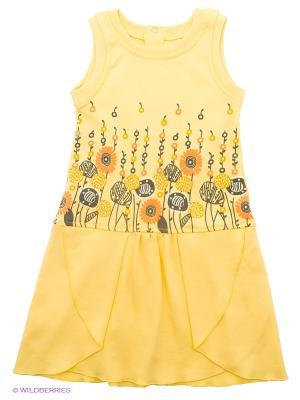 Сарафан FIM. Цвет: светло-желтый