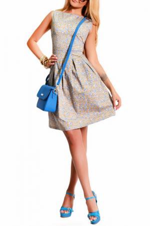 Платье LASKANY collezioni. Цвет: персиковый
