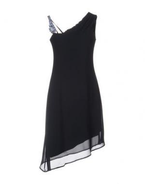 Платье до колена CARLA MONTANARINI. Цвет: темно-синий