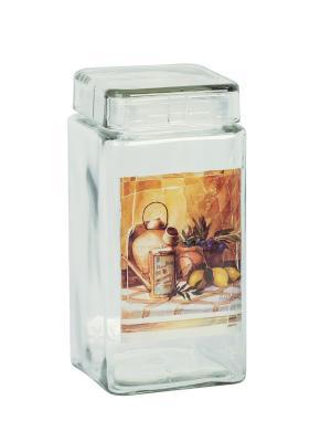 Банка Старый натюрморт 2200мл Elff Ceramics. Цвет: серебристый, оранжевый