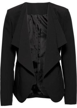 Пиджак с удлиненными лацканами (черный) bonprix. Цвет: черный
