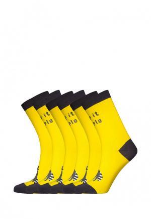 Комплект bb socks. Цвет: желтый