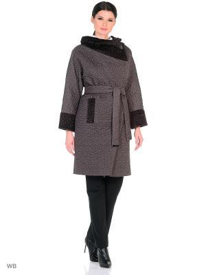 Пальто Socrat. Цвет: серо-коричневый
