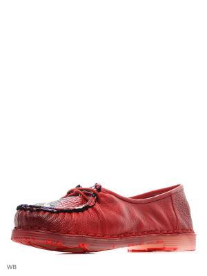 Туфли EL ROSSO. Цвет: красный