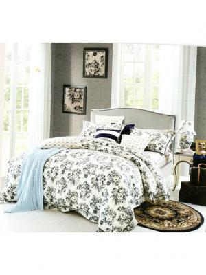 Комплект постельного белья ROMEO AND JULIET. Цвет: серый, белый