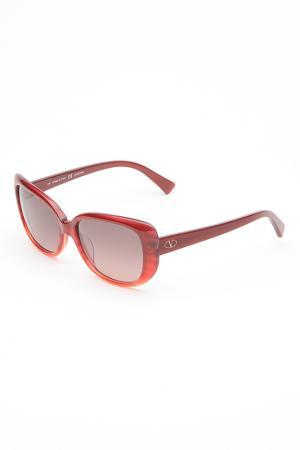 Очки солнцезащитные Valentino. Цвет: винный