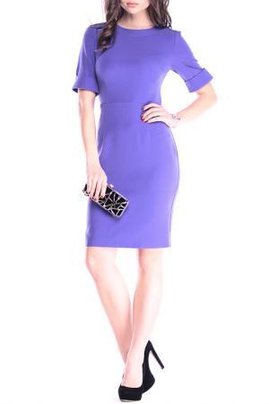 Приталенное платье офисного стиля MAURINI. Цвет: сиреневый