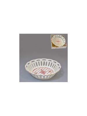 Конфетница МАРКИЗА 17,5 см BRISWILD. Цвет: белый