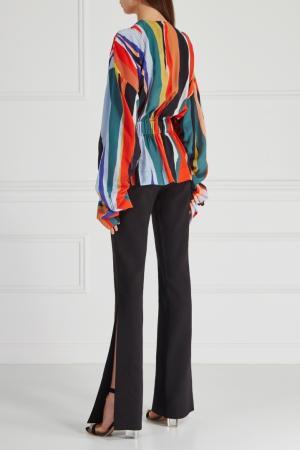 Комбинированная блузка Solace. Цвет: разноцветный