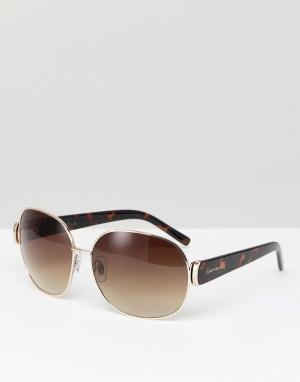 Carvela Солнцезащитные очки в стиле ретро. Цвет: коричневый