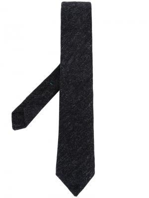 Трикотажный галстук Borrelli. Цвет: серый