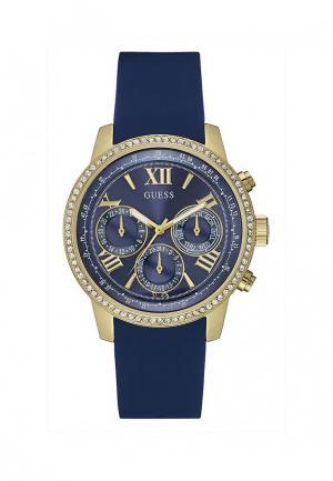 Часы Guess. Цвет: синий