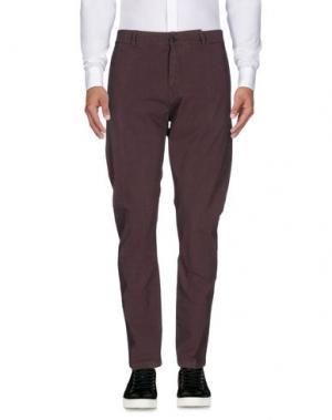 Повседневные брюки ONE SEVEN TWO. Цвет: темно-фиолетовый
