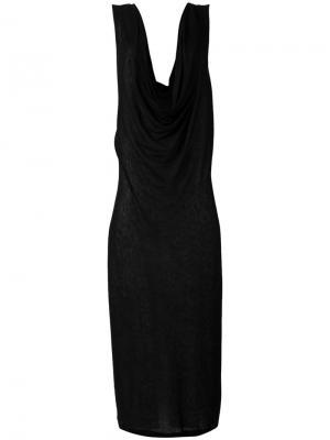 Длинное платье без рукавов Barbara I Gongini. Цвет: чёрный