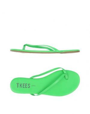 Вьетнамки TKEES. Цвет: зеленый