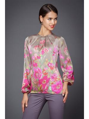 Блузка Арт-Деко. Цвет: салатовый, бежевый, малиновый
