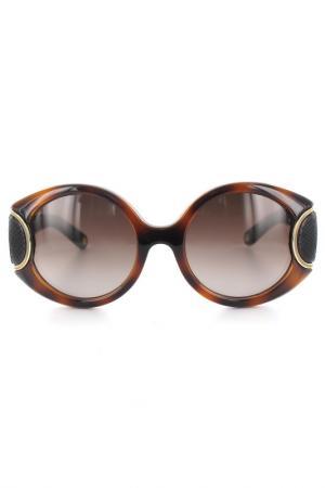 Очки солнцезащитные Salvatore Ferragamo. Цвет: коричневый