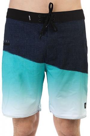 Шорты пляжные  Mirage Gravity 19 Boardshort Teal Rip Curl. Цвет: голубой,темно-синий