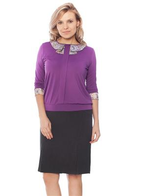 Блузка MONTI&FARR. Цвет: темно-фиолетовый
